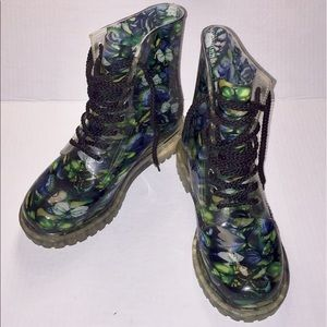Dirty Laundry Butterfly Roadie jelly combat boots